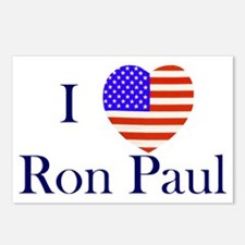 I Love Ron Paul Postcards (Package of 8)
