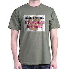 Afghan Hounds woman's best friend T-Shirt