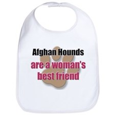 Afghan Hounds woman's best friend Bib