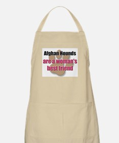 Afghan Hounds woman's best friend BBQ Apron