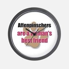 Affenpinschers woman's best friend Wall Clock