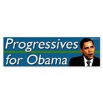 Progressives for Obama bumper sticker