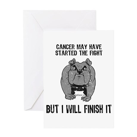 Cancer Started the Fight Greeting Card