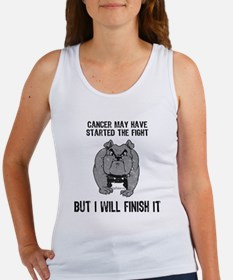 Cancer Started the Fight Women's Tank Top