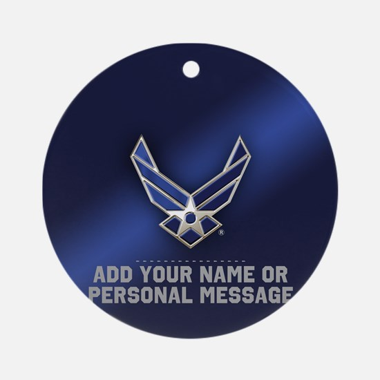 PERSONALIZED U.S. Air Force Logo Round Ornament
