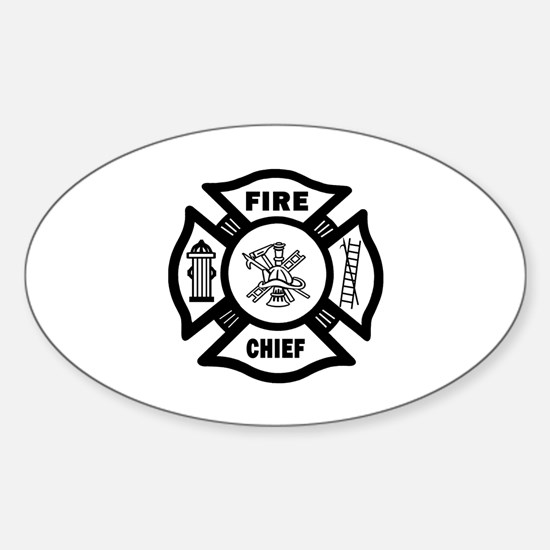 Fire Chief Sticker (Oval)