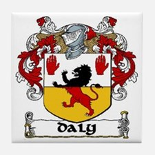 Daly Coat of Arms Tile Coaster