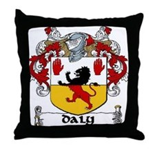 Daly Coat of Arms Throw Pillow