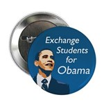 Exchange Students for Obama button