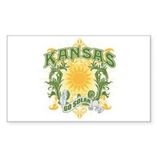 Go Solar Kansas Rectangle Decal