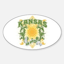 Go Solar Kansas Oval Decal