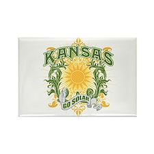 Go Solar Kansas Rectangle Magnet (100 pack)
