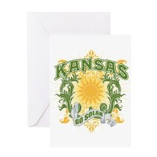 Go Solar Kansas Greeting Card