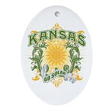 Go Solar Kansas Oval Ornament