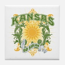 Go Solar Kansas Tile Coaster