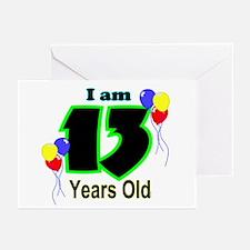 13th Birthday Greeting Cards (Pk of 10)