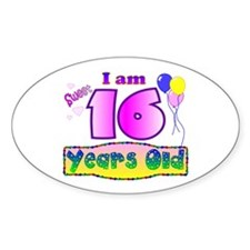 Sweet 16 Birthday Oval Decal