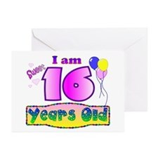 Sweet 16 Birthday Greeting Cards (Pk of 10)