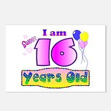 Sweet 16 Birthday Postcards (Package of 8)