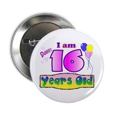 "Sweet 16 Birthday 2.25"" Button"