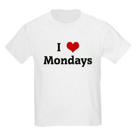 I Love Mondays Kids Light T-Shirt