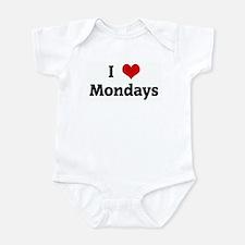 I Love Mondays Infant Bodysuit