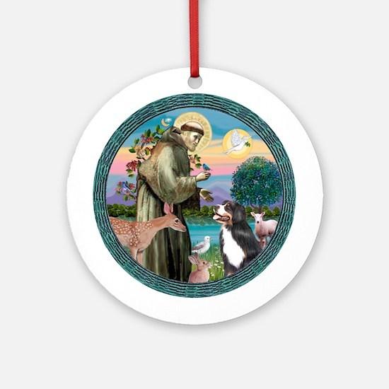 St Francis/Bernese Ornament (Round)
