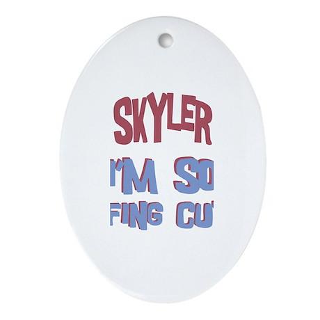 Skyler - So Effing Cute Oval Ornament