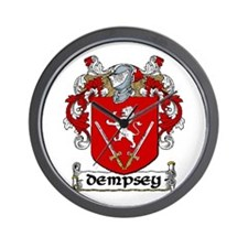 Dempsey Coat of Arms Wall Clock
