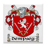 Dempsey crest Tile Coasters