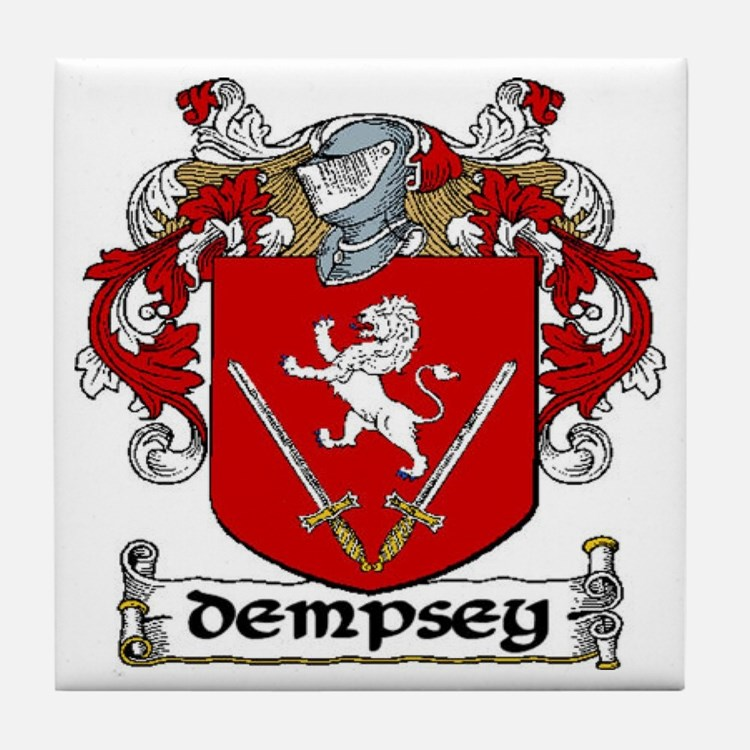 Dempsey Coat of Arms Tile Coaster