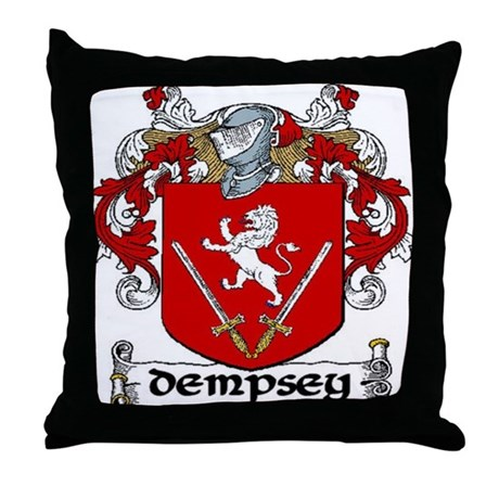 Dempsey Coat of Arms Throw Pillow