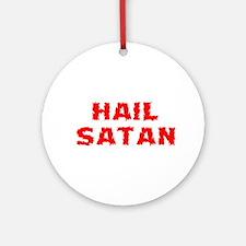 Hail Satan Ornament (Round)
