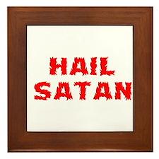 Hail Satan Framed Tile