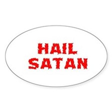 Hail Satan Oval Decal