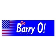 Go Barry O! Barack Obama bumper Sticker, wide