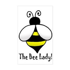The Bee Lady Rectangle Decal