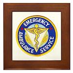 Emergency Ambulance Framed Tile