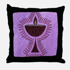 Purple Chalice Throw Pillow