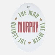 Murphy Man Myth Legend Oval Ornament