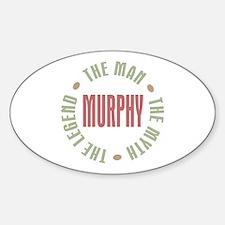 Murphy Man Myth Legend Oval Decal