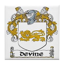 Devine Coat of Arms Tile Coaster