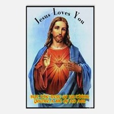 Jesus Loves You, but... Postcards (Package of 8)
