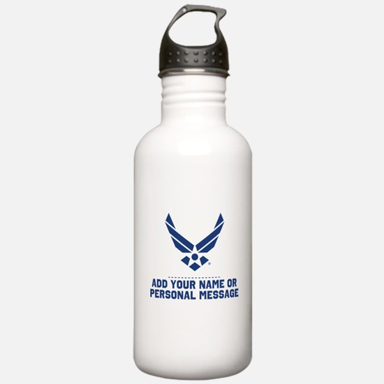 PERSONALIZED U.S. Air Force Logo Water Bottle