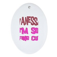 Vanessa - So Effing Cute Oval Ornament