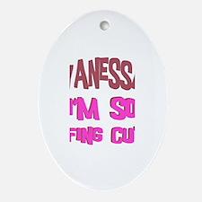 Vanessa - So Effing Cute Oval Ornament