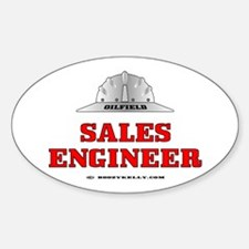 Oilfield Sales Engineer Oval Decal
