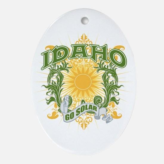 Go Solar Idaho Oval Ornament