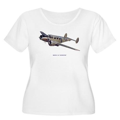 Beech C-45 Expediter Women's Plus Size Scoop Neck