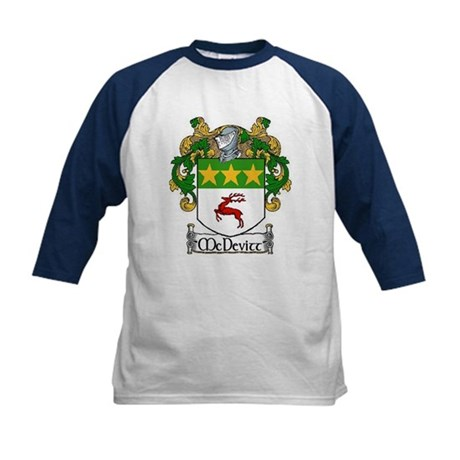 McDevitt Coat of Arms Kids Baseball Jersey